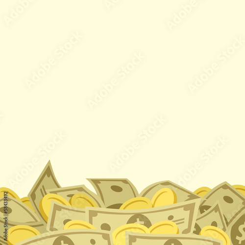 Background with money. Vector illustration.