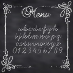 Vector sketched menu board