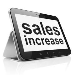 Marketing concept: Sales Increase on tablet pc computer
