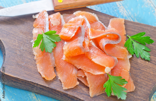 salmon on board