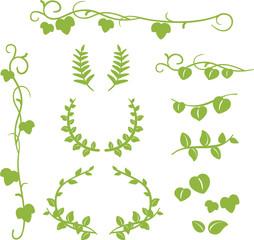 葉のフレームやライン