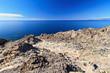 rocky coast in San Pietro island