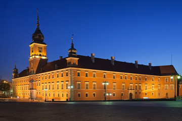 Morning at the Royal Castle in Warsaw