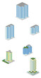 Isometric City Apartment Buildings Pack
