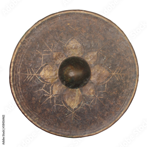 Isolated Thai native gong