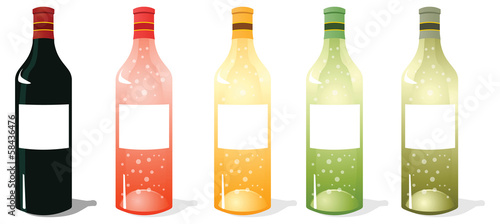 Multi Color Wine Bottles Pack