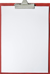 Blank red tablet