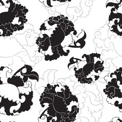Seamless pattern of chrysanthemum
