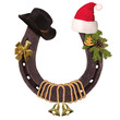 Horseshoe and Christmas elements