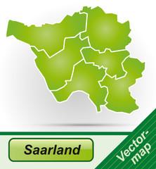 Grenzkarte von Saarland mit Grenzen in Grün