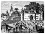 Benares : Gaths - Gange River - View : 19th century poster