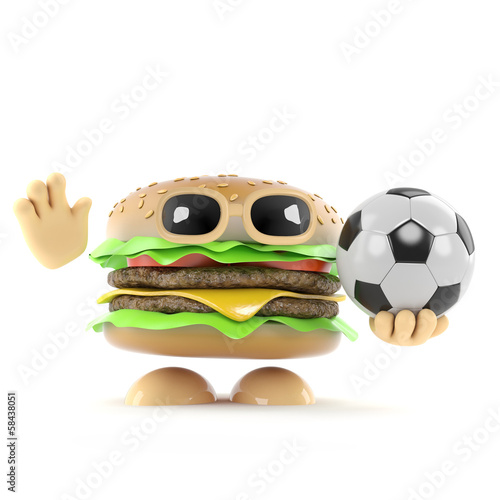Burger plays soccer