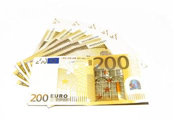 Background of euro bills. Money