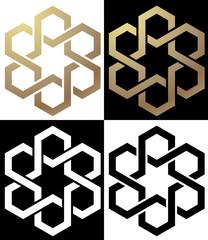 Logo stella ed esagoni gruppo