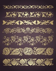 wedding card, paisley floral designs , royal India