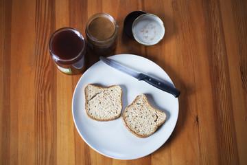 Sandwich burro d'arachidi e marmellata