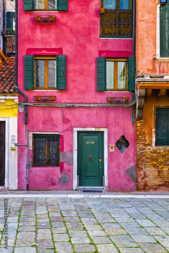 Colorful Venetian Houses, Italy - 58440013