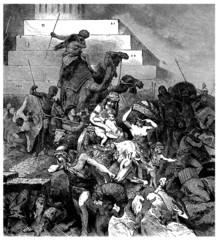 Babel Tower falling - Tour de Babel s'écroûlant