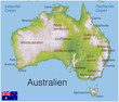 Australien.5.Kontinent.Landkarte