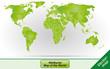 Weltkarte mit Grenzen in Grün