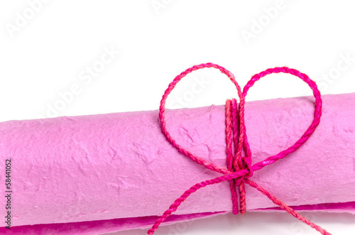 Roll of pink mulberry paper