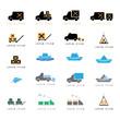 Transport Icons Set - Isolated On White Background
