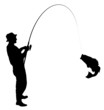 Fishing Silhouette - 58442279