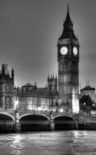 Czarno-białe zdjęcie z Big Ben, Londyn, Wielka Brytania