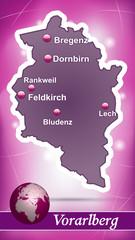 Vorarlberg Abstrakter Hintergrund in Violett