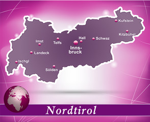 Tirol Abstrakter Hintergrund in Violett