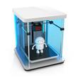 3D printer on white background