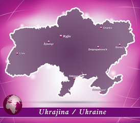 Ukraine Abstrakter Hintergrund in Violett