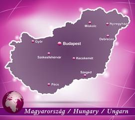 Ungarn Abstrakter Hintergrund in Violett