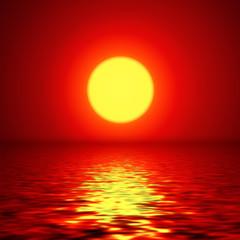 Sunset background, vector design