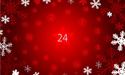 Christmas advent calendar background