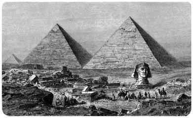 Gizeh (Egypt) - View : 19th century