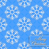 Background seamless from snowflakes for Merry Christmas