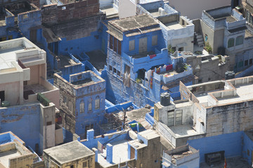 View of the Blue City from the Mehrangarh Fort