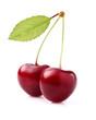 Sweet cherries with leaf