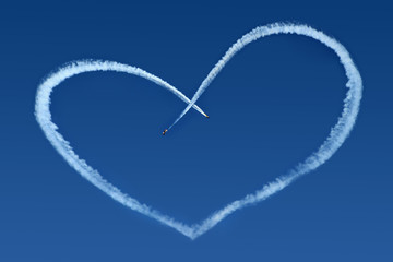 Airplanes Skywriting a Heart