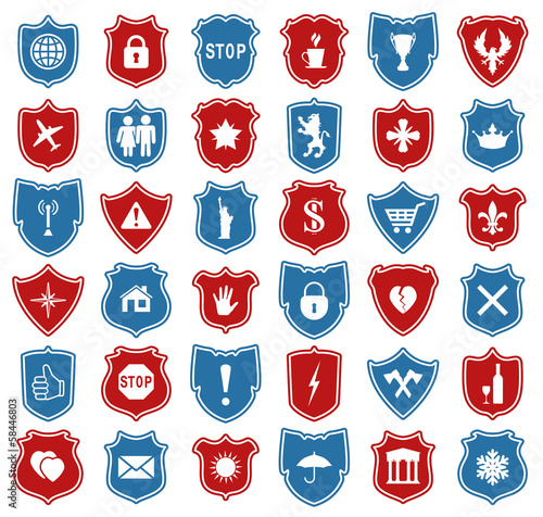 vector set of shield icons
