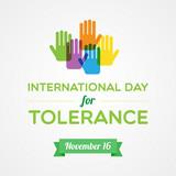 International Day for Tolerance poster