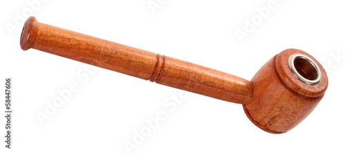 Small wooden smoking pipe