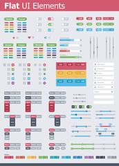 Flat UI elements