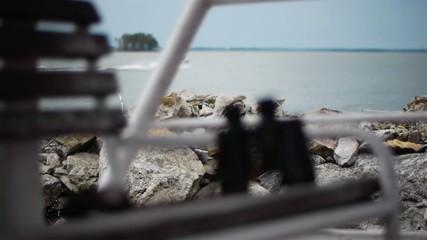 Binoculars boat