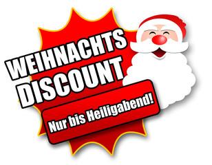 """Siegel """"Weihnachtsdiscount - Nur bis Heiligabend!"""""""