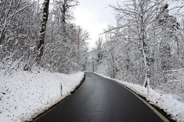 Straße Winter Glätte