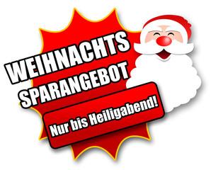 """Siegel """"Weihnachtssparangebot - Nur bis Heiligabend!"""""""