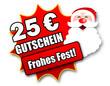 """Siegel """"25 Euro Gutschein - Frohes Fest!"""""""