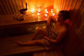 Sauna - Beautiful woman